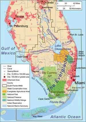 Sunrise Florida Map.Map Of The Everglades Florida Pinterest Florida Everglades