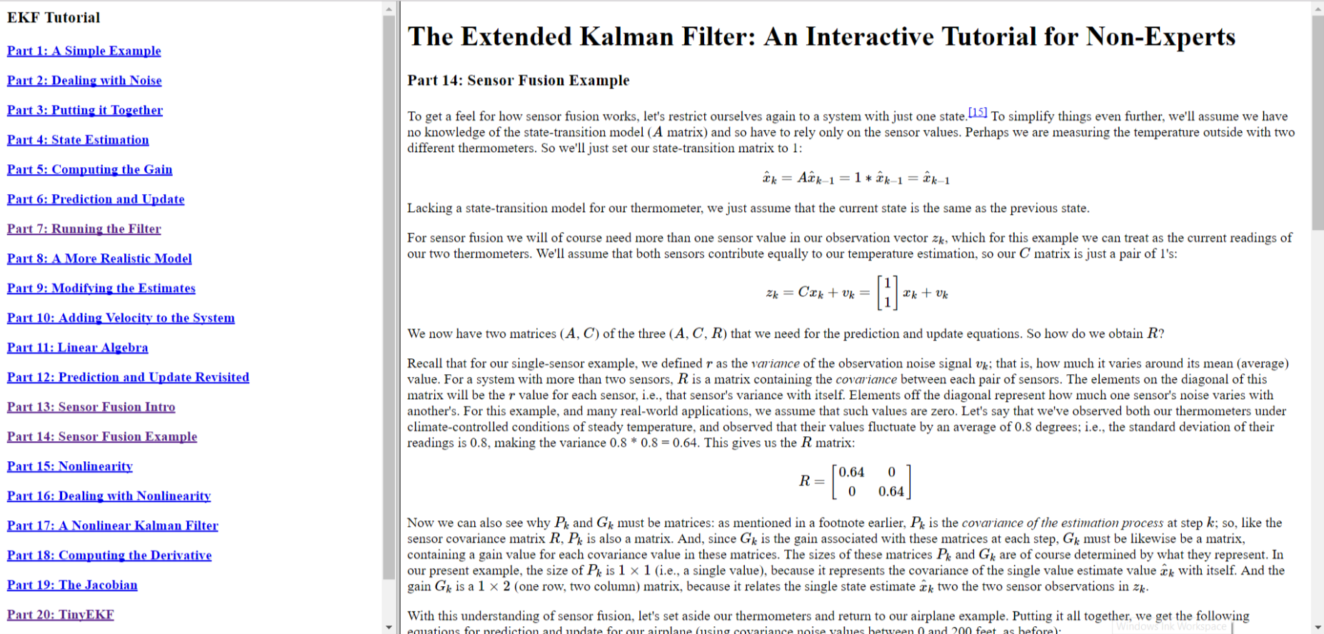 the extended kalman filter: an interactive tutorial for non-experts