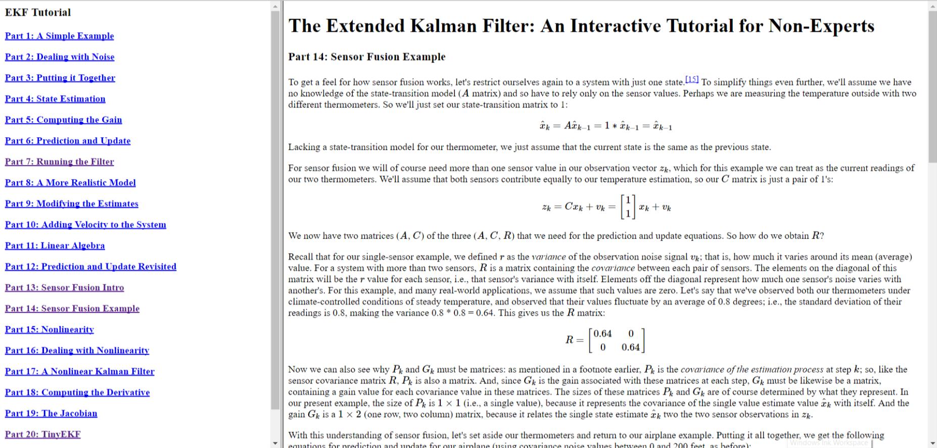 The Extended Kalman Filter: An Interactive Tutorial for Non