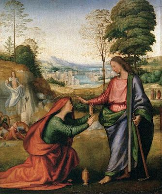 Elizabeth Twist Noli Me Tangere Italiaanse Renaissance Renaissance Tentoonstelling
