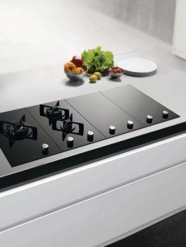 Electrolux Ehg30200k Built In 2 Burner Modular Domino Gas Hob In Black Glass Kitchen Dinning Modern Kitchen Kitchen