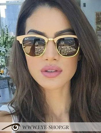 e233bfa04729d Camila Coelho φοράει τα γυαλιά ηλίου Rayban Clubmaster Wood 3016M κλικ στη  φωτο για να τα βρείτε