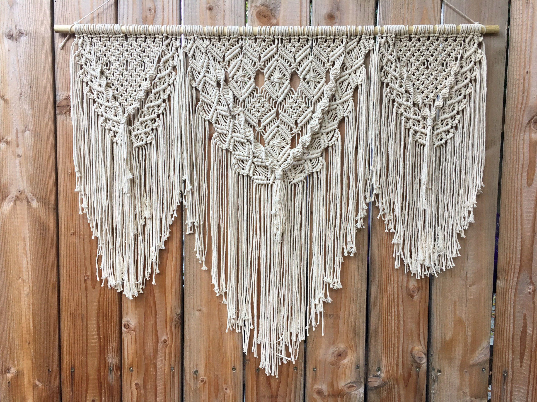 Large Macrame Wall Hanging | Modern Macrame Wall Tapestry ...
