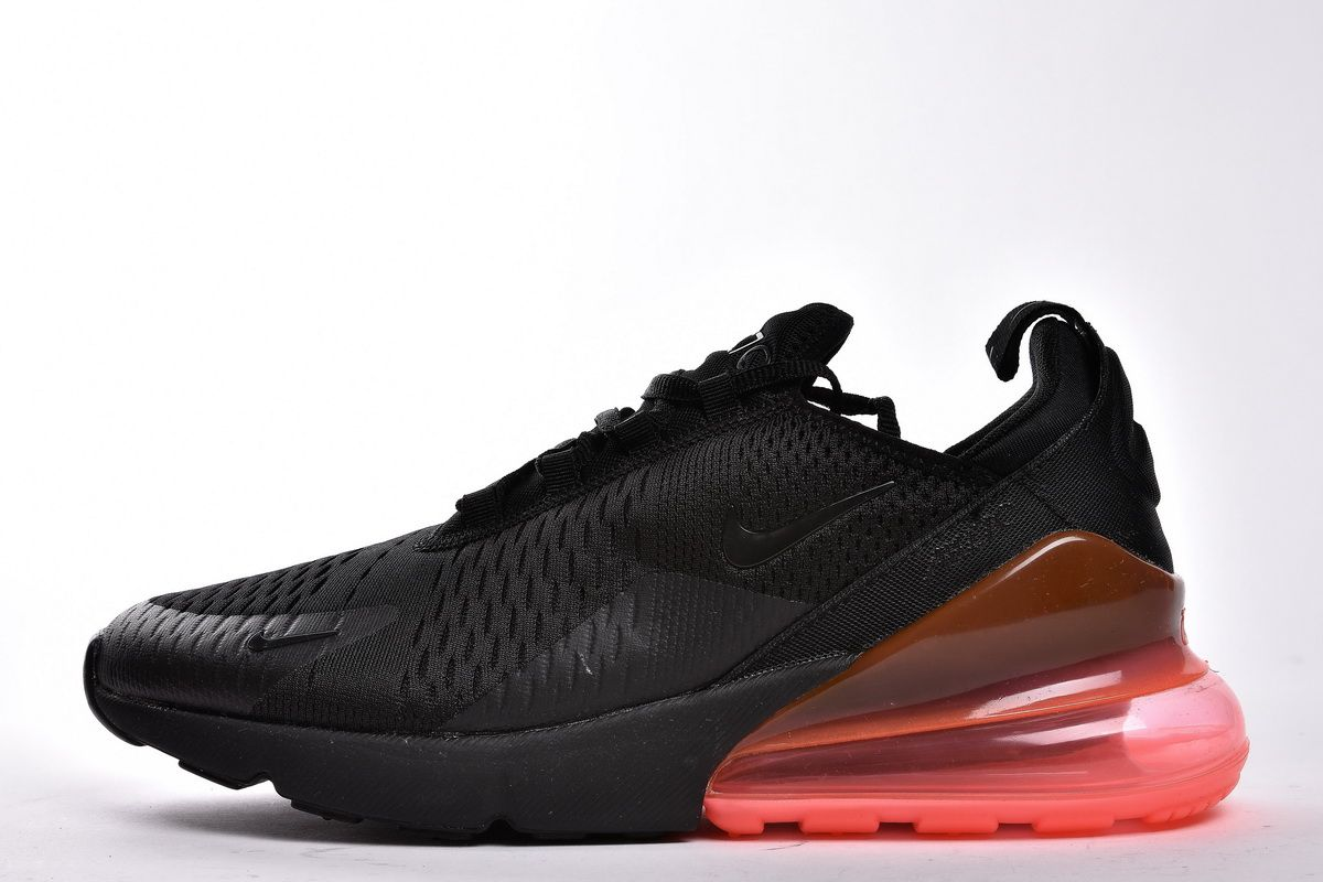 Nike Air Max 270 'Hot Punch' AH8050 010 Black Red Shoes for