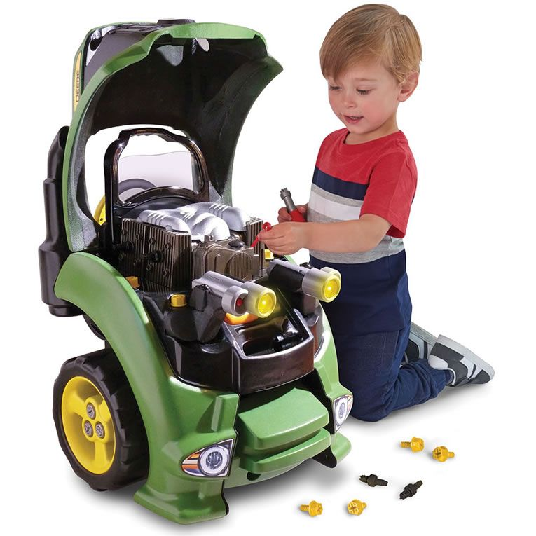 John Deer Tractor Engine Repair Set Teaches Your Kids To Be The Best Auto Mechanic Cars Johndeer Toys
