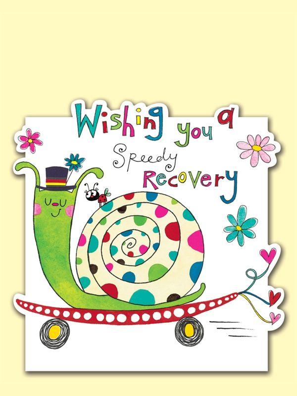 wishing you a speedy recovery snail on a skateboard get well greeting card by rachel ellen designs - Get Well Greeting Cards