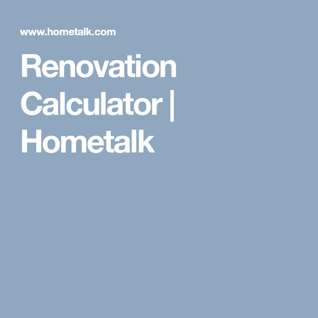 renovation calculator calculator and budgeting