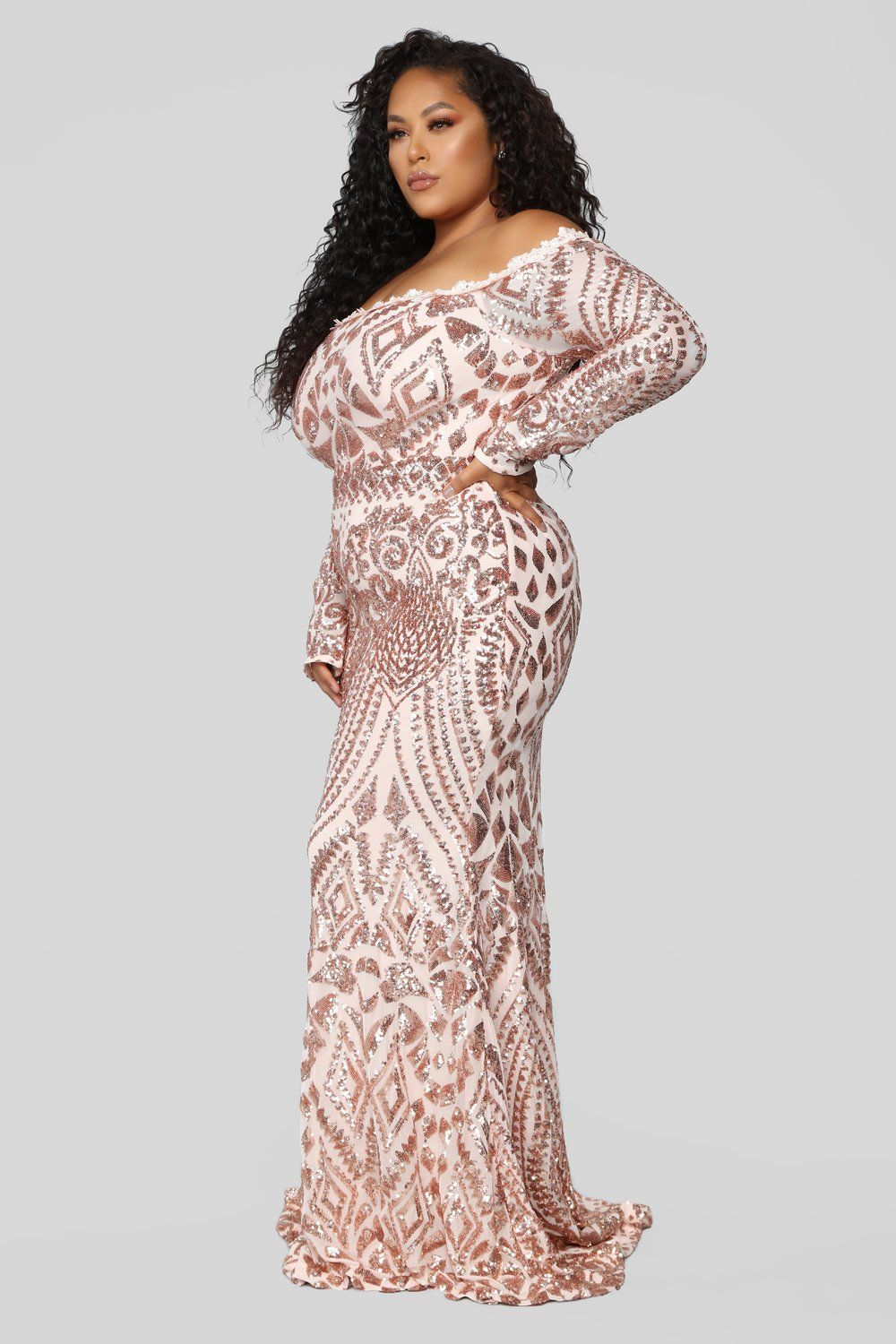 Chloe RoseGold Sequin Dress - RoseGold | Phat | Sequin dress ...