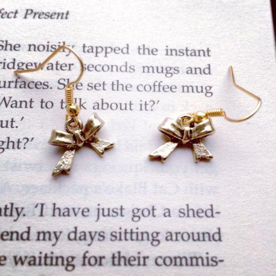 Gold Bow Earrings by AvecAmourLauren on Etsy