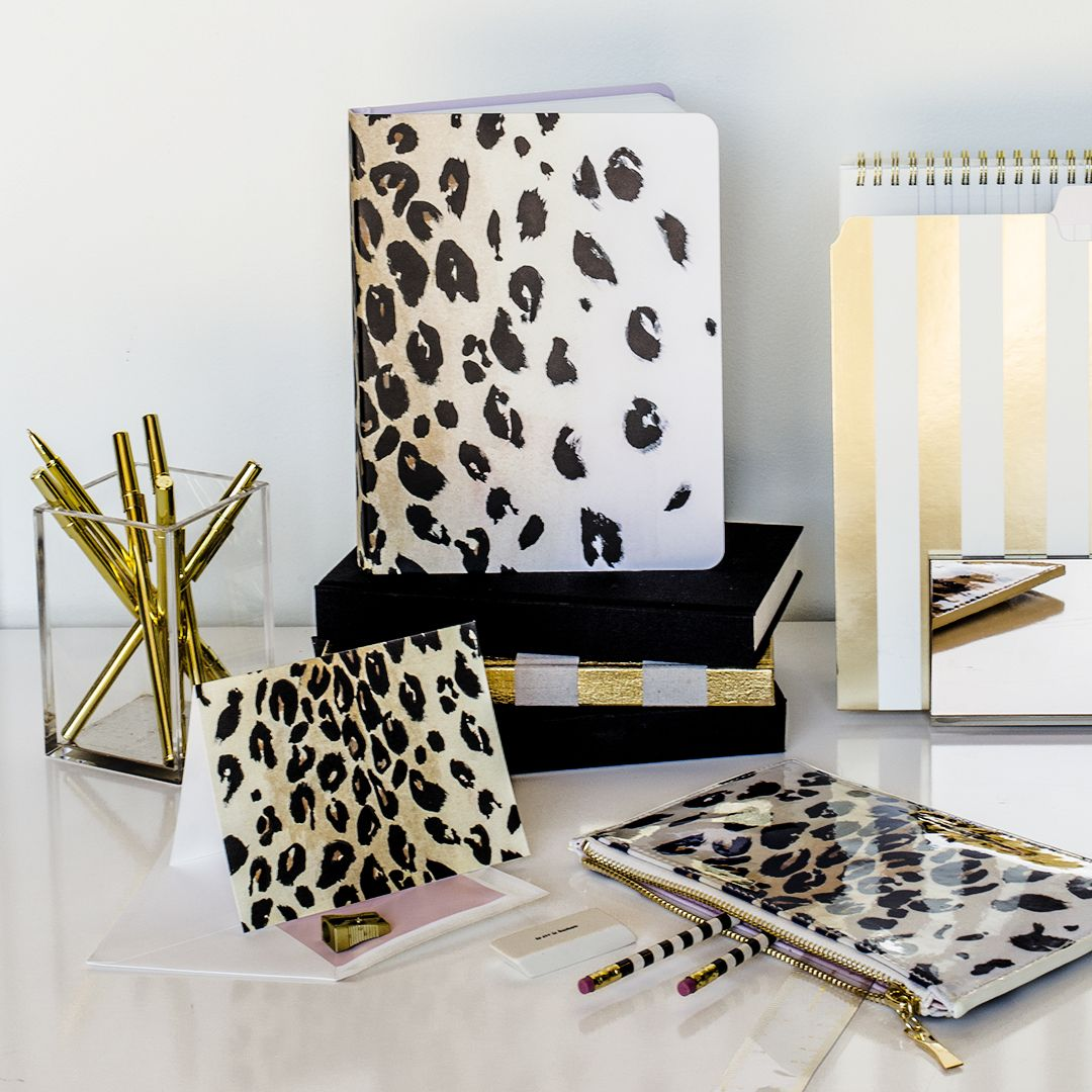 Kate Spade New York Leopard Stationery And Desk Accessories