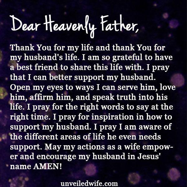 Prayer: Supporting My Husband