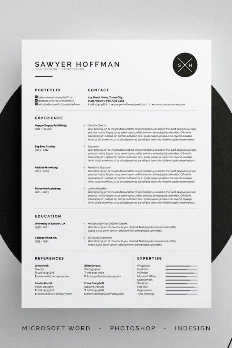 Resume Cv Sawyer Resume Design Graphic Design Cv Resume Design Template