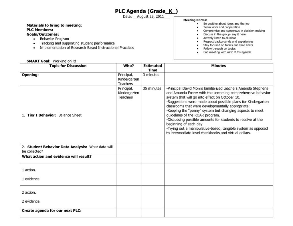 plc agenda template 3 1 024 791 pixels plc pinterest. Black Bedroom Furniture Sets. Home Design Ideas