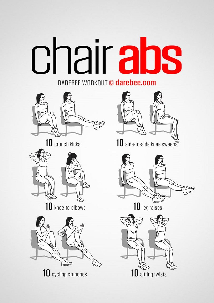 Spending Your Days With Sitting Behind The Desk Here Are Some Efficient Abs Exercises You Can Do To Shape Chair Exercises For Abs Quick Workout Senior Fitness