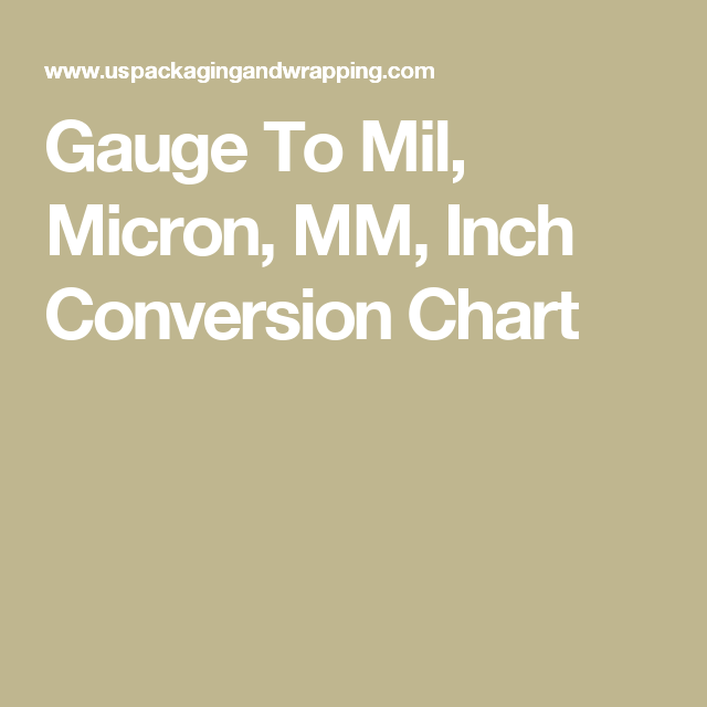 Gauge Thickness Conversion Chart (Updated) | Life Hacks | Chart