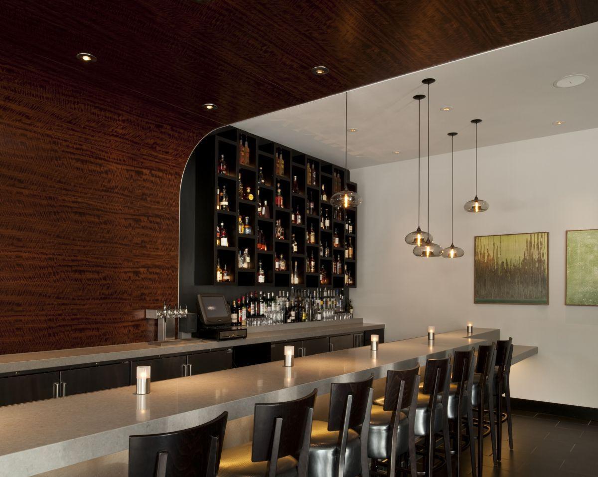modern bar lighting. Vesu Restaurant In Walnut Creek, California Featuring A Host Of Niche Modern Aurora Pendant Lights. Posted By Nichemodern Bar Lighting T