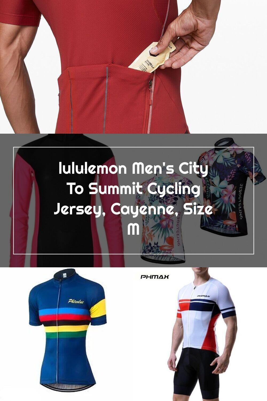 Lululemon Men S City To Summit Cycling Jersey Cayenne Size M In 2020 Lululemon Men Cycling Jersey Jersey