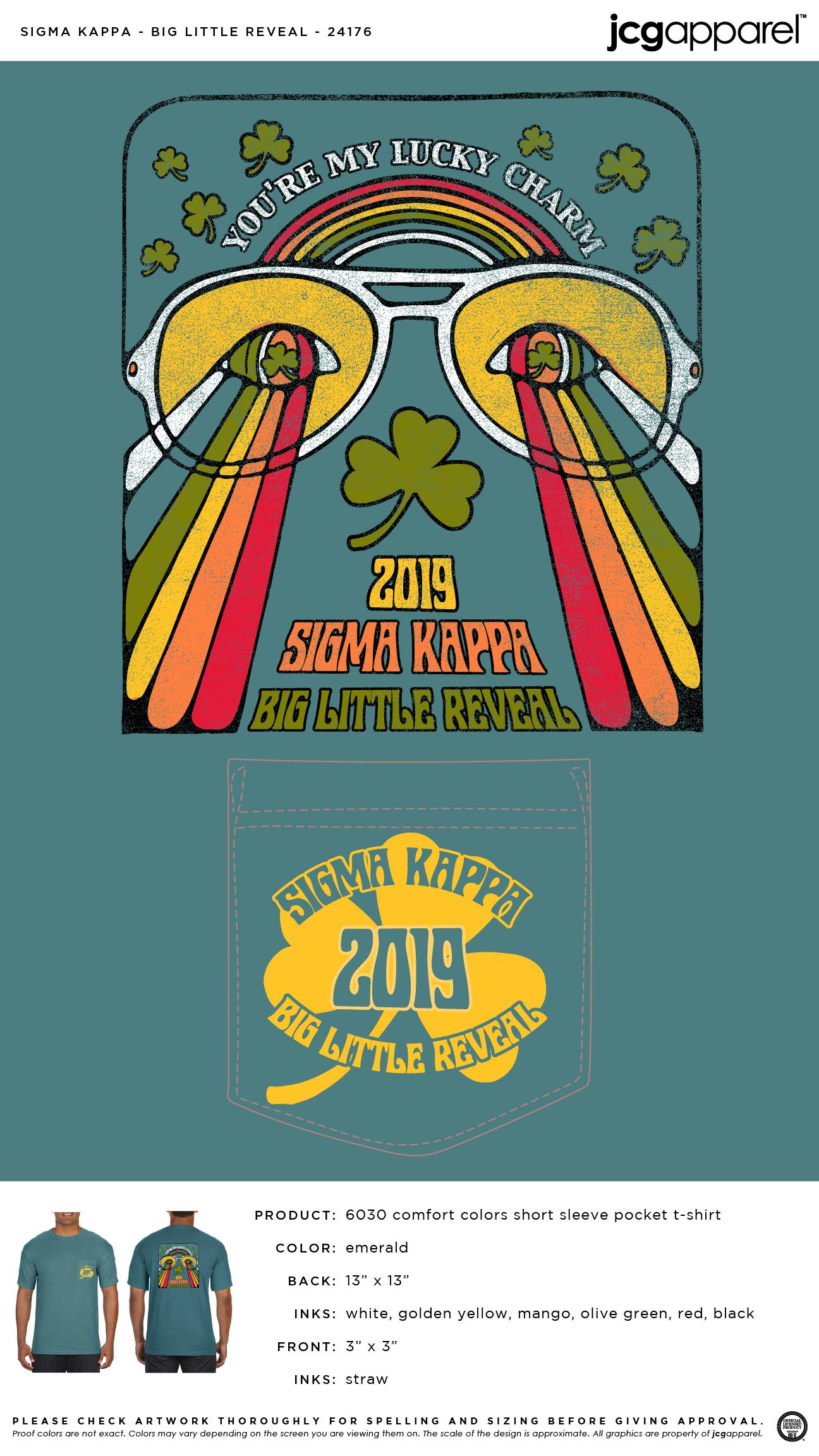 Sigma Kappa Big Little Reveal Shirt | Sorority Big Little Reveal | Greek Big Little Reveal #sigmakappa #sk #big #little #reveal #lucky #charm #sunglasses #biglittlereveal