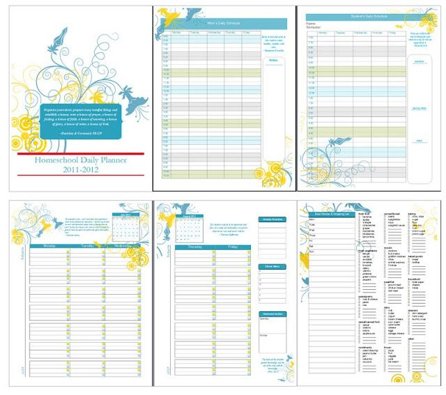Calendar Book Printable : Homeschool planner i want to print the