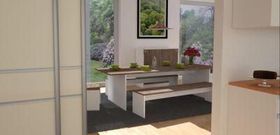 Esszimmer modern gestalten. Mit Schiebetüren die Küche zum Esszimmer ...