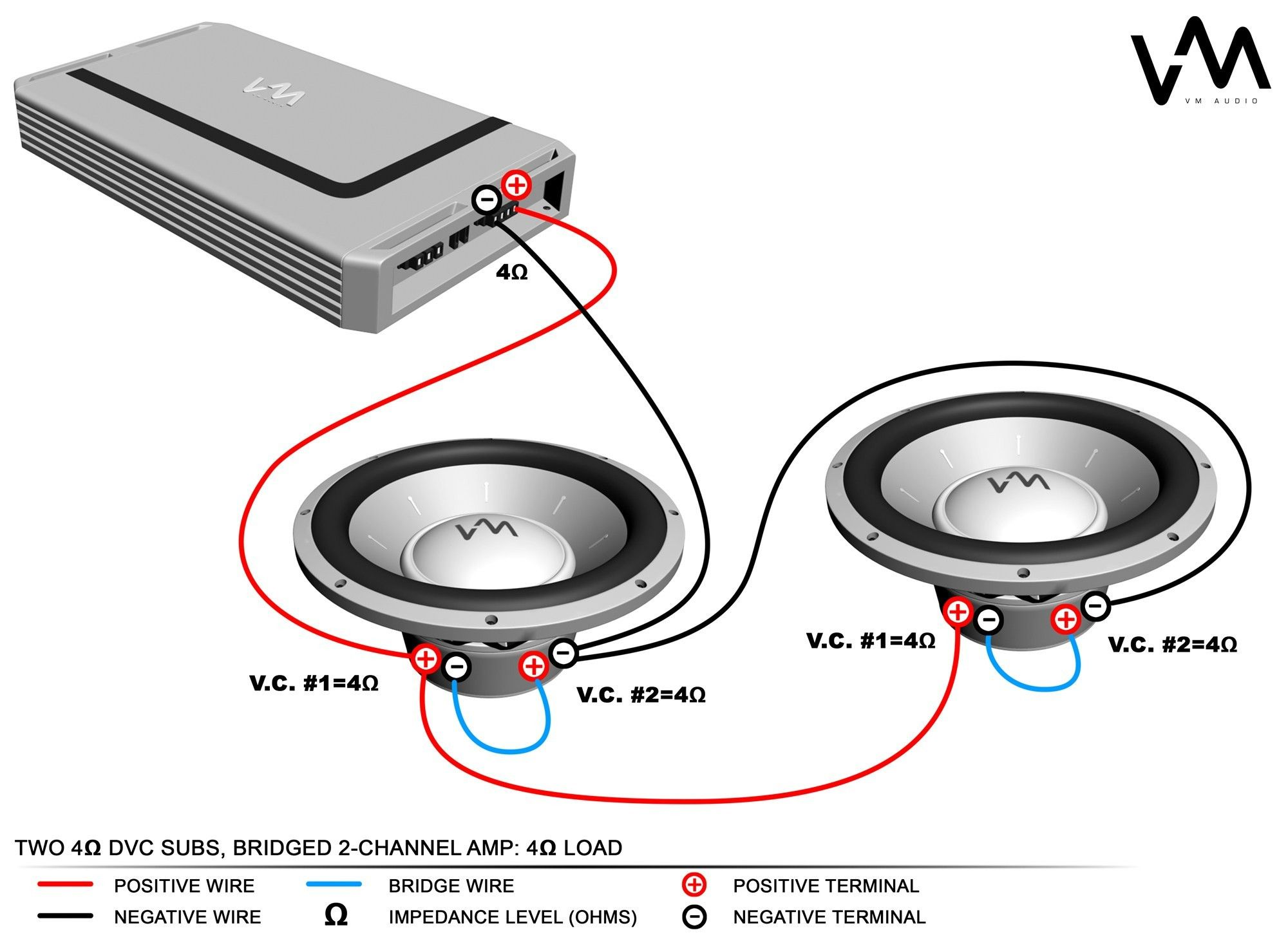 4 Ohm Dual Voice Coil Subwoofer Wiring Diagram | Subwoofer wiring, Car  audio, Car audio installation | With 2 Single Voice Coil Wire Diagram For Channel Amps Subs |  | Pinterest