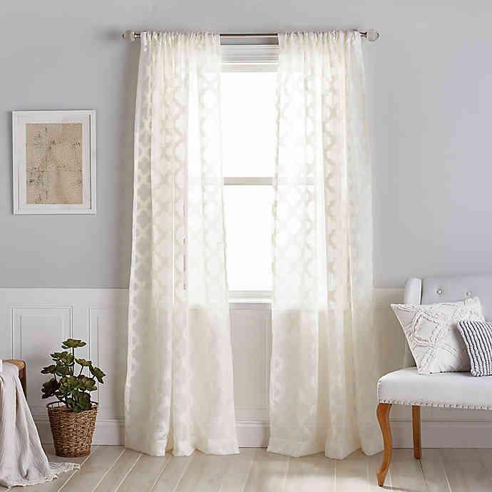 Windsor Sheer Rod Pocket Window Curtain Panel in 2020