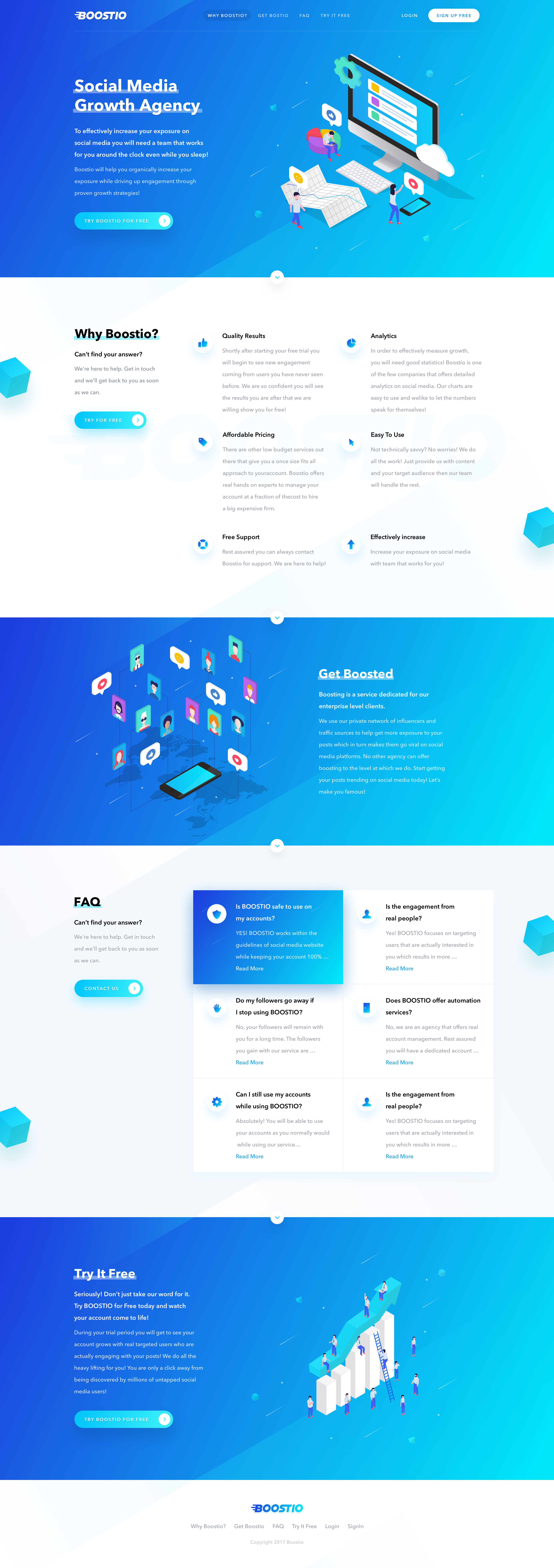 Boostio mainpage big | Web Design | Pinterest | Big, Ui ux