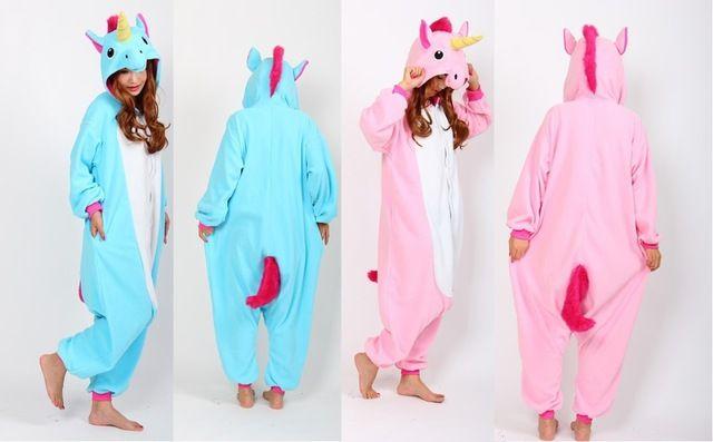 358bd74a0 Frete grátis adulto pijama unicórnio pijama Cosplay Onesie unicórnio  unicórnio traje Animal pijamas unicórnio Onesies Sleepsuit
