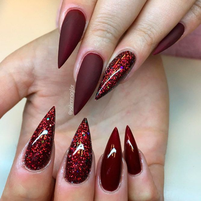 Inspiring Stiletto Nails To Win Over You Naildesignsjournal Com Red Stiletto Nails Stiletto Nails Designs Gel Acrylic Nails