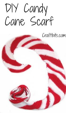 Crochet Scarf Christmas Candy Cane  Christmas Candy Crochet