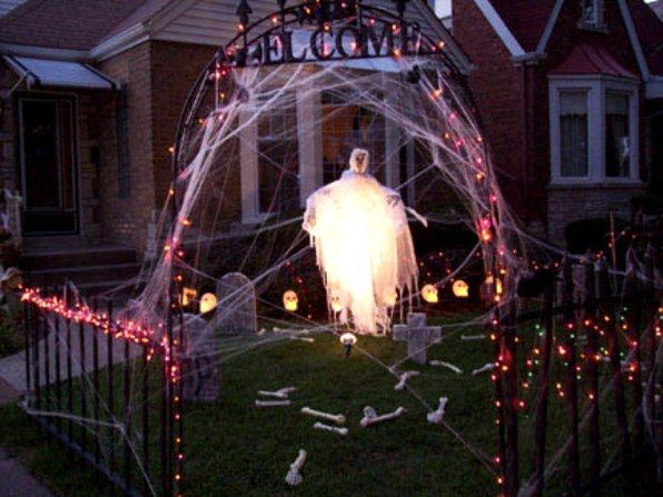 halloween-decorations-1 haneli bday ideas Pinterest Outdoor - how to make halloween decorations for yard