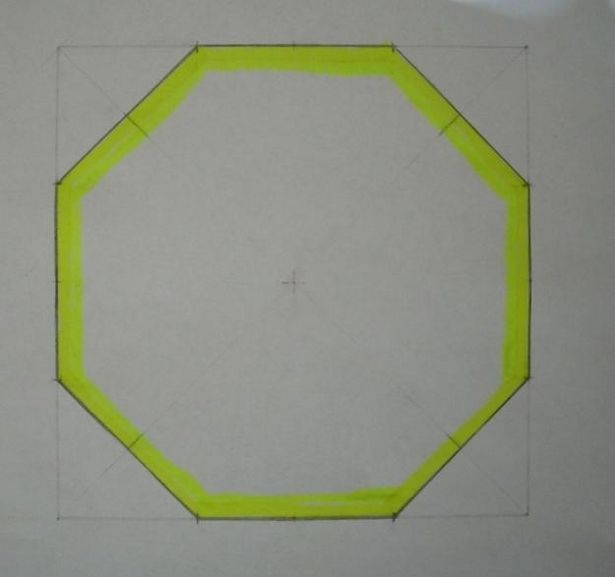 How to Draw an Octagon (8 sided Polygon) | Hexies | Pinterest