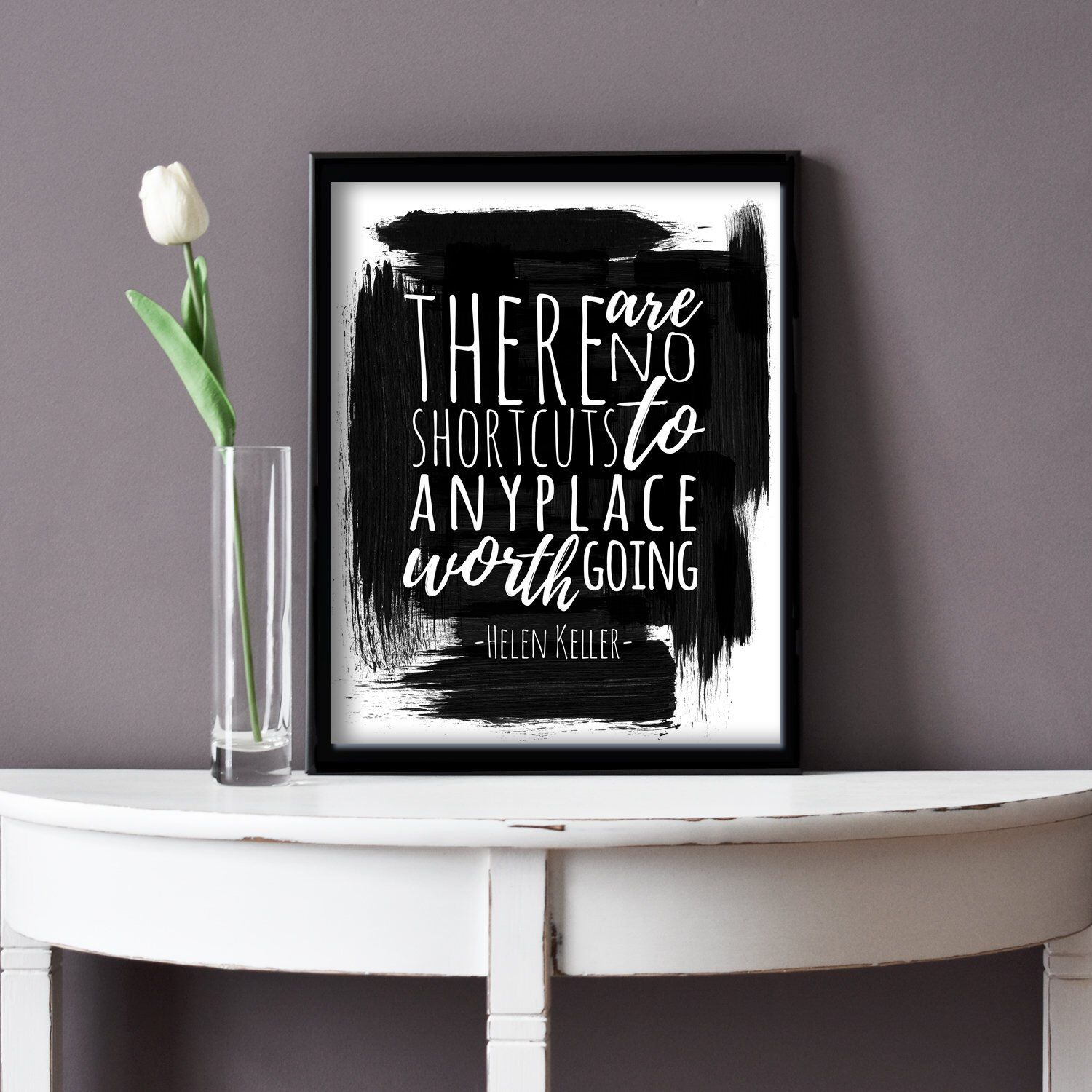 Printable Helen Keller Inspirational Quotes Black And