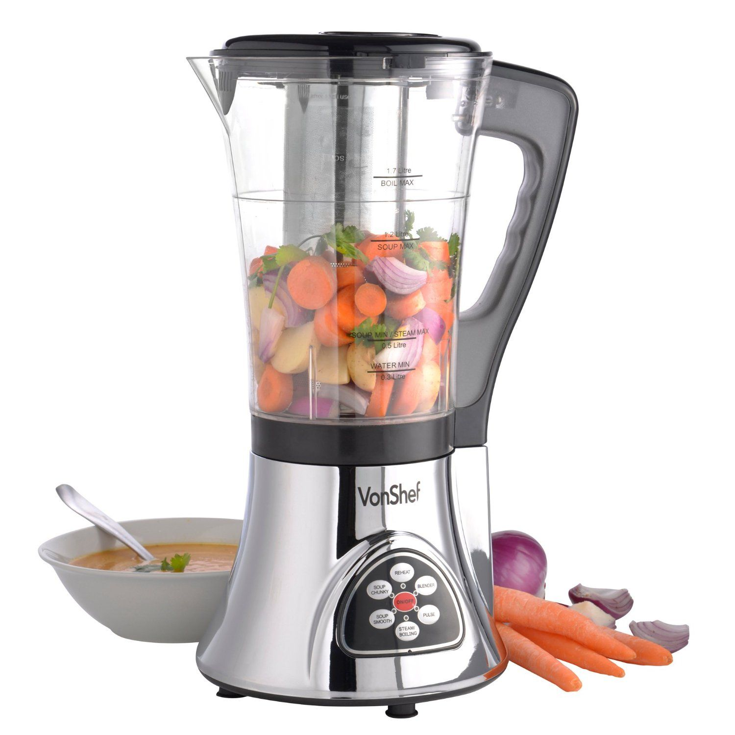 Vonshef soup maker machine smoothie maker with 200 super soups vonshef soup maker machine smoothie maker with 200 super soups recipe book amazon kitchen home used to be 9999 down to 2999 999 delivery forumfinder Gallery