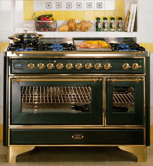 This Is The Company That Got Terrible Reviews But It S So Pretty Ilve Um120fmpbl 48 Inch Traditional Style Freestanding Cooker Ilve Convection Cooking