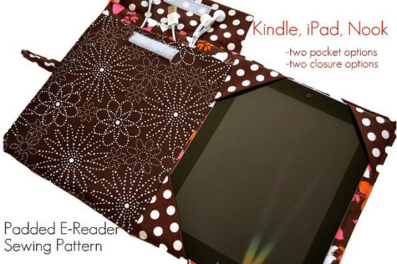 Ereader Cover Pattern Pdf Sewing Pattern Ipad By Pinkpoodlebows Easy Sewing Patterns Ereader Cover Sewing Patterns
