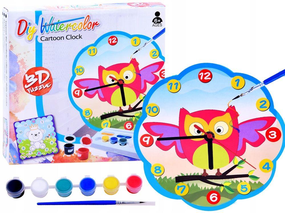 Kreatywny Zegar Puzzle 3d Zrob Sam Sowa Za2537 7662010376 Oficjalne Archiwum Allegro Art Pincode
