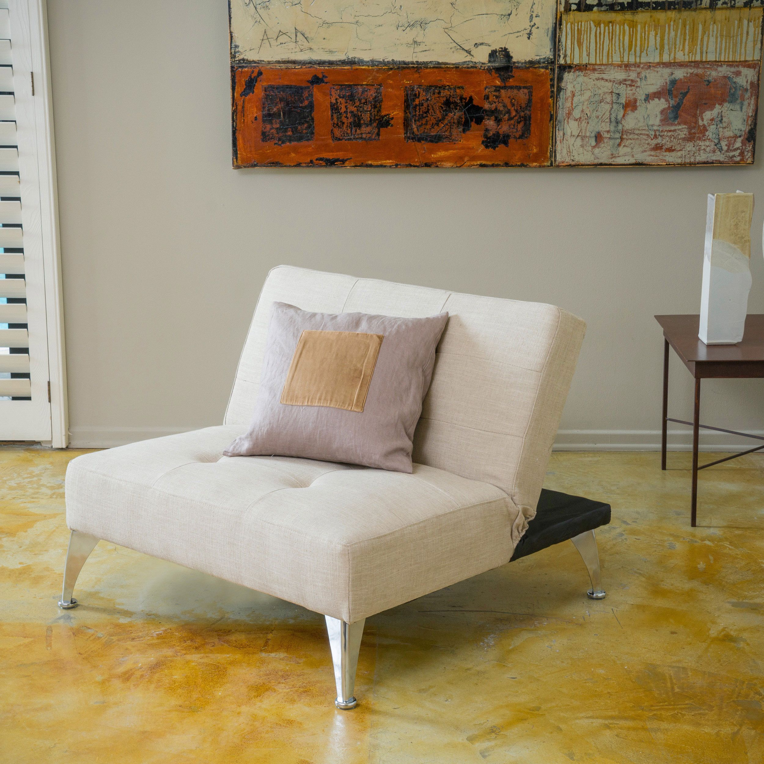 Alston clickclack oversized convertible ottoman chair by