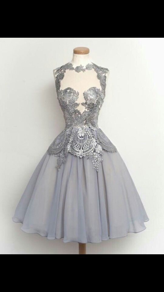 Silver and grey dress