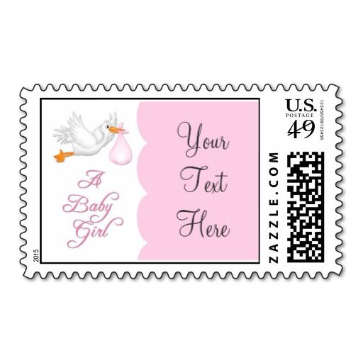 baby girl stork postage stamp make your own stamps more personal to