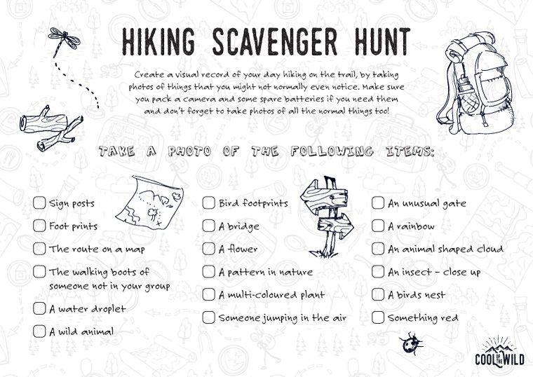 Hunt camping riddles treasure