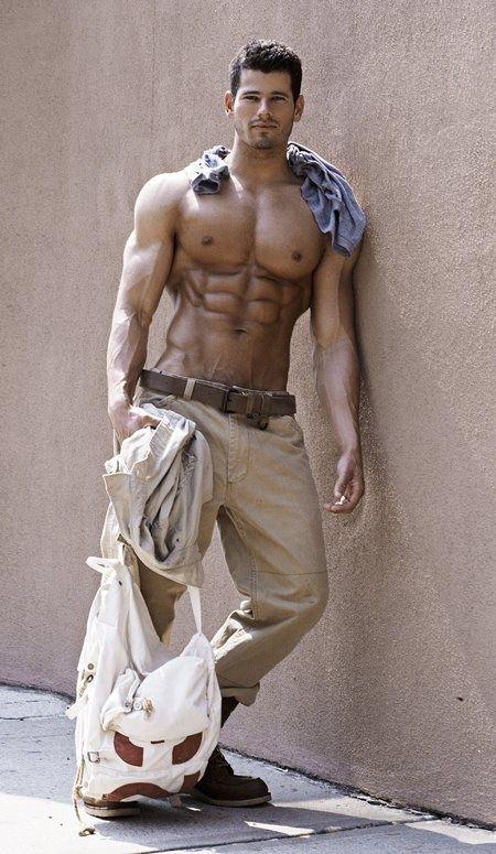Sexy male workout