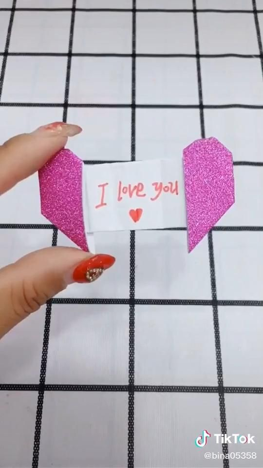 Origami video. Surprise love. -   diy For Teens step by step