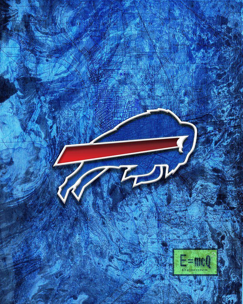 Buffalo Bills Poster, Buffalo Bills Football Poster, Bills