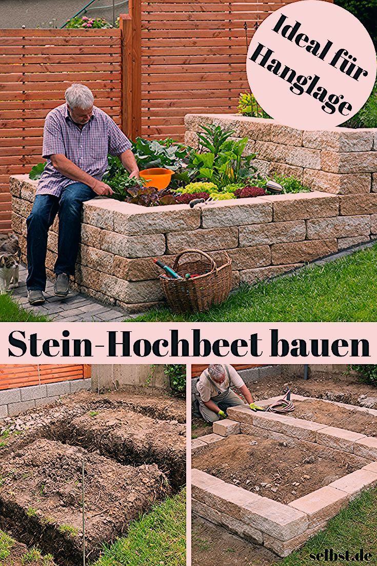 Photo of Stein-Hochbeet    selbst.de