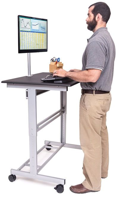 Mobile Standing Desk On Wheels Under 300 Stand Up Desk Best Stand Up Adjustable Height Stand