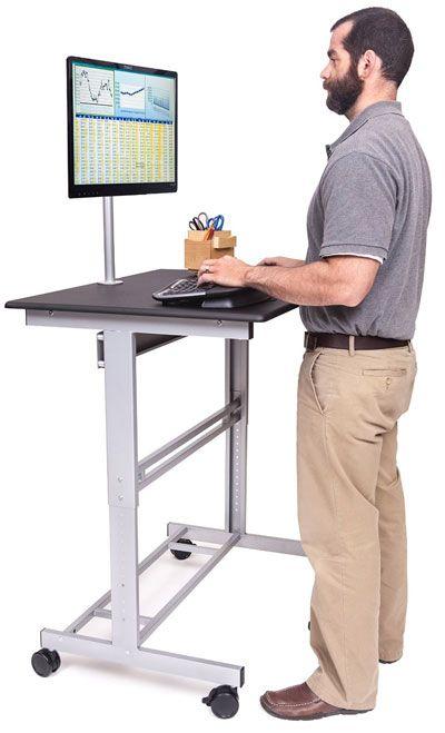 Mobile Standing Desk On Wheels Stand Up Desk Adjustable Height Stand Mobile Standing Desk