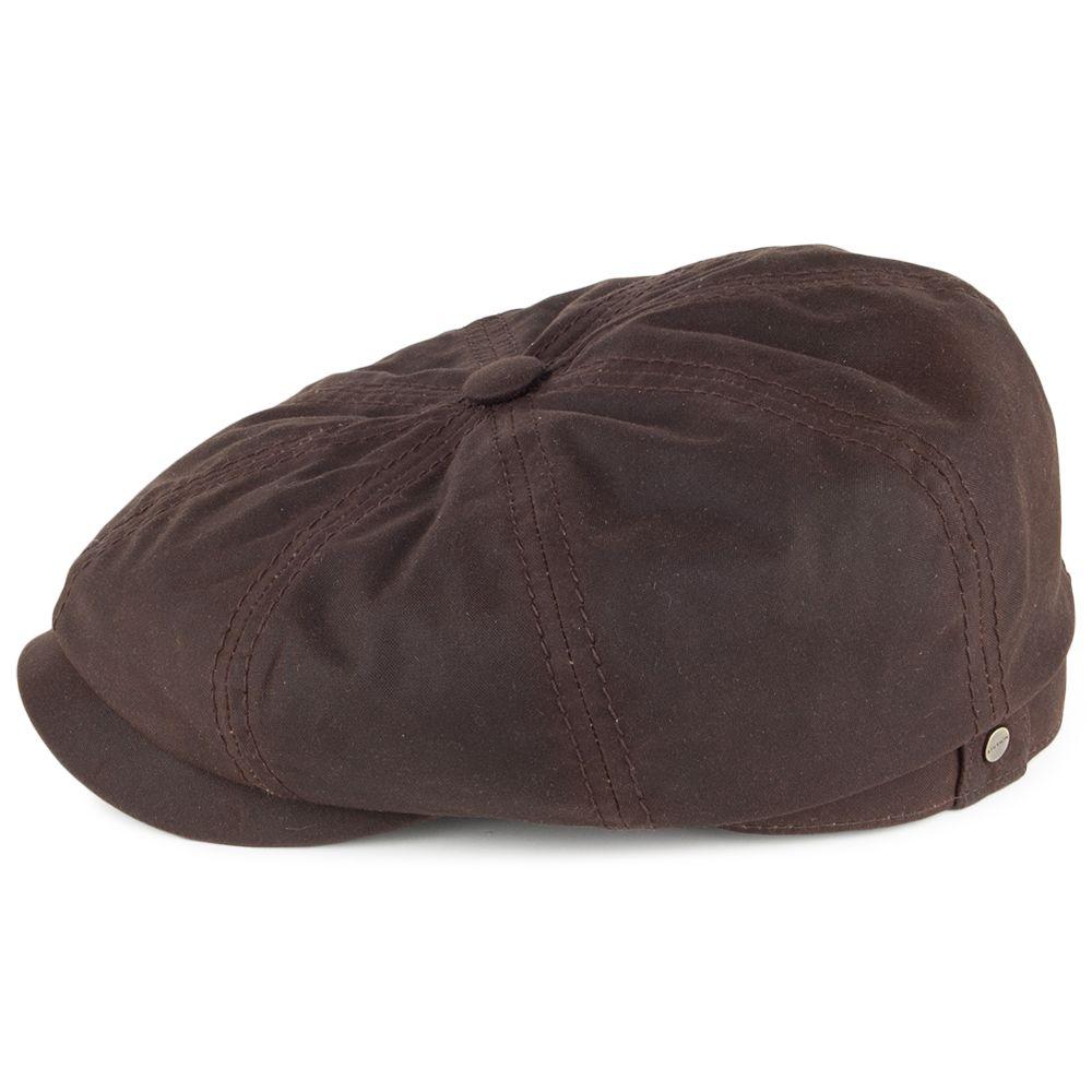 d874b413fd1c43 Stetson Hats Hatteras Waxed Cotton Newsboy Cap - Brown | style ...