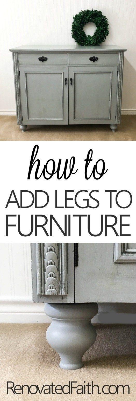 How To Add Legs To Furniture (Buffet Reveal) #furniturefeet #furniturelegs