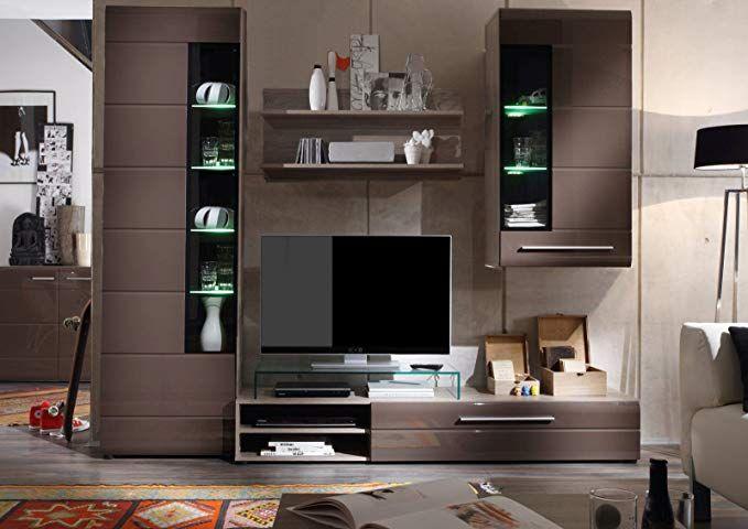 Dynamic24 Vitrine John Trend + Beleuchtung Wohnzimmer Schrank Möbel